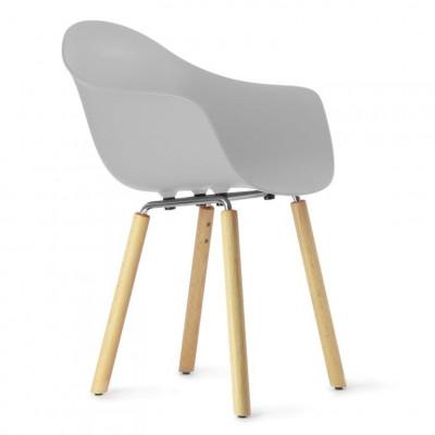 TA Arm Chair with Yi Base | Light Grey