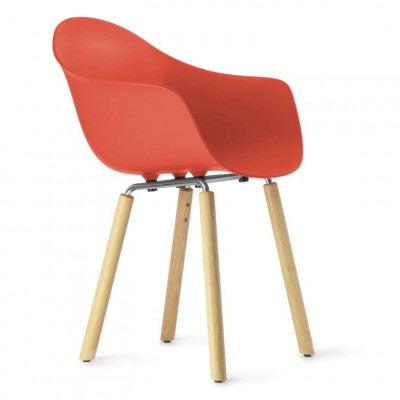 TA Arm Chair with Yi Base | Red
