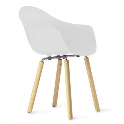 TA Arm Chair with Yi Base | White