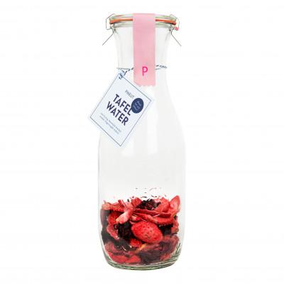 DIY Tafelwasser   Erdbeere & Hibiskus