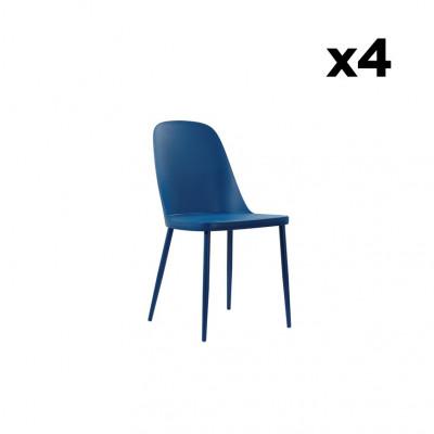 4-er Set Esszimmerstühle Tamara   Blau