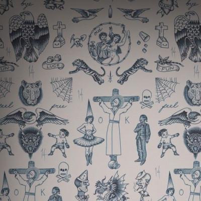 Wallpaper Tattoo Flash 01 | Vintage