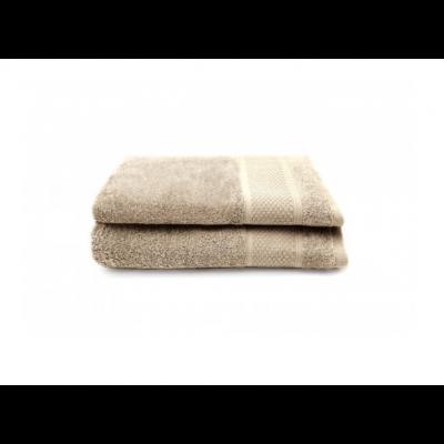Set of 2 Bath Towels Gigi 50x100 cm | Taupe