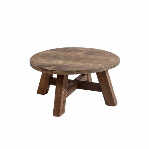 Coffee Table Recycled   Dark Wood