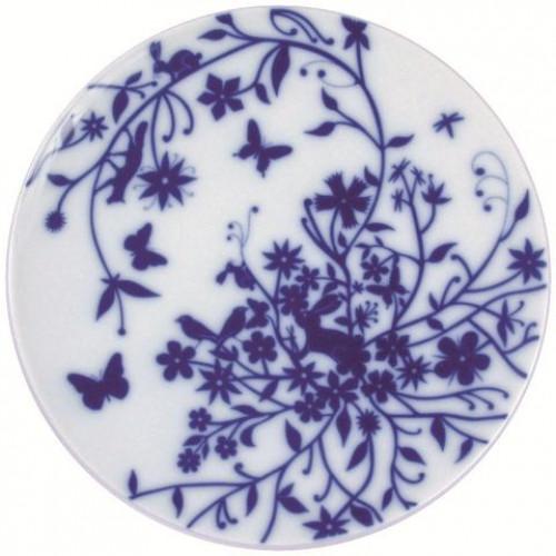 "Set of 6 flat plates ""Root"" Blue"
