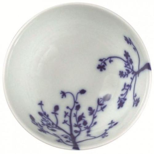 "Set of 6 small bowls ""Tree"" Blue"