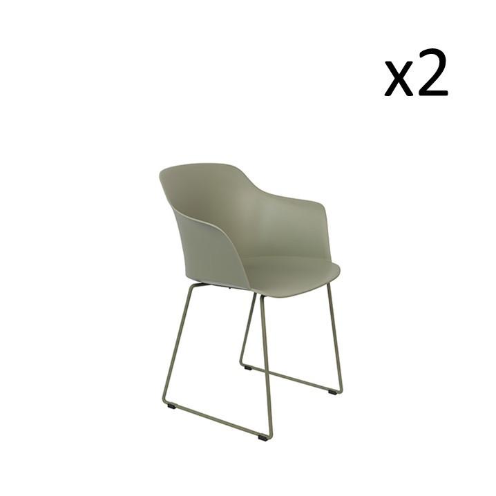 2er-Set Sessel Tango | Grün