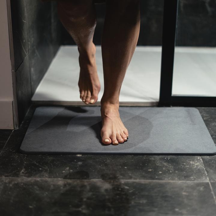 Tapis de bain en Diatomite | Gris Foncé