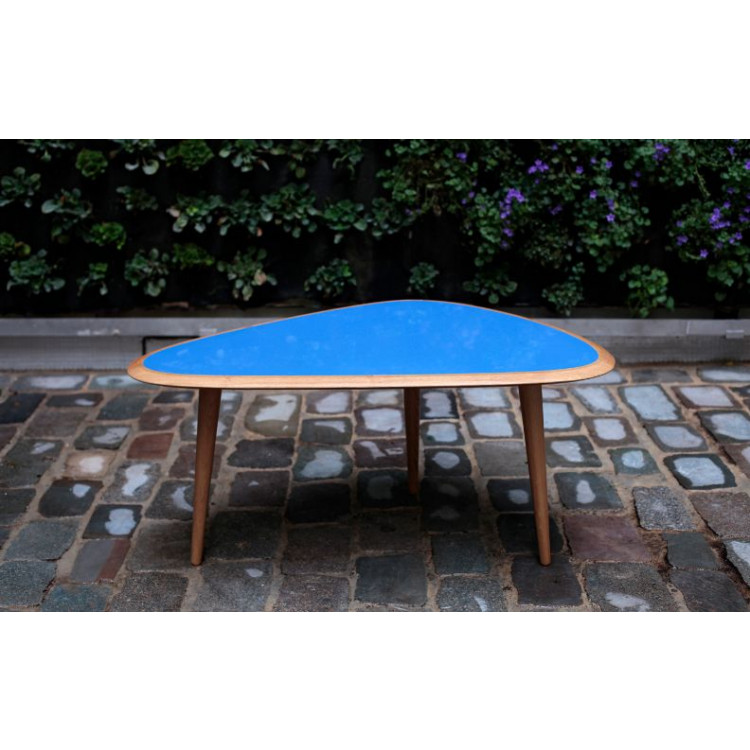 Fifties Table Small Blue