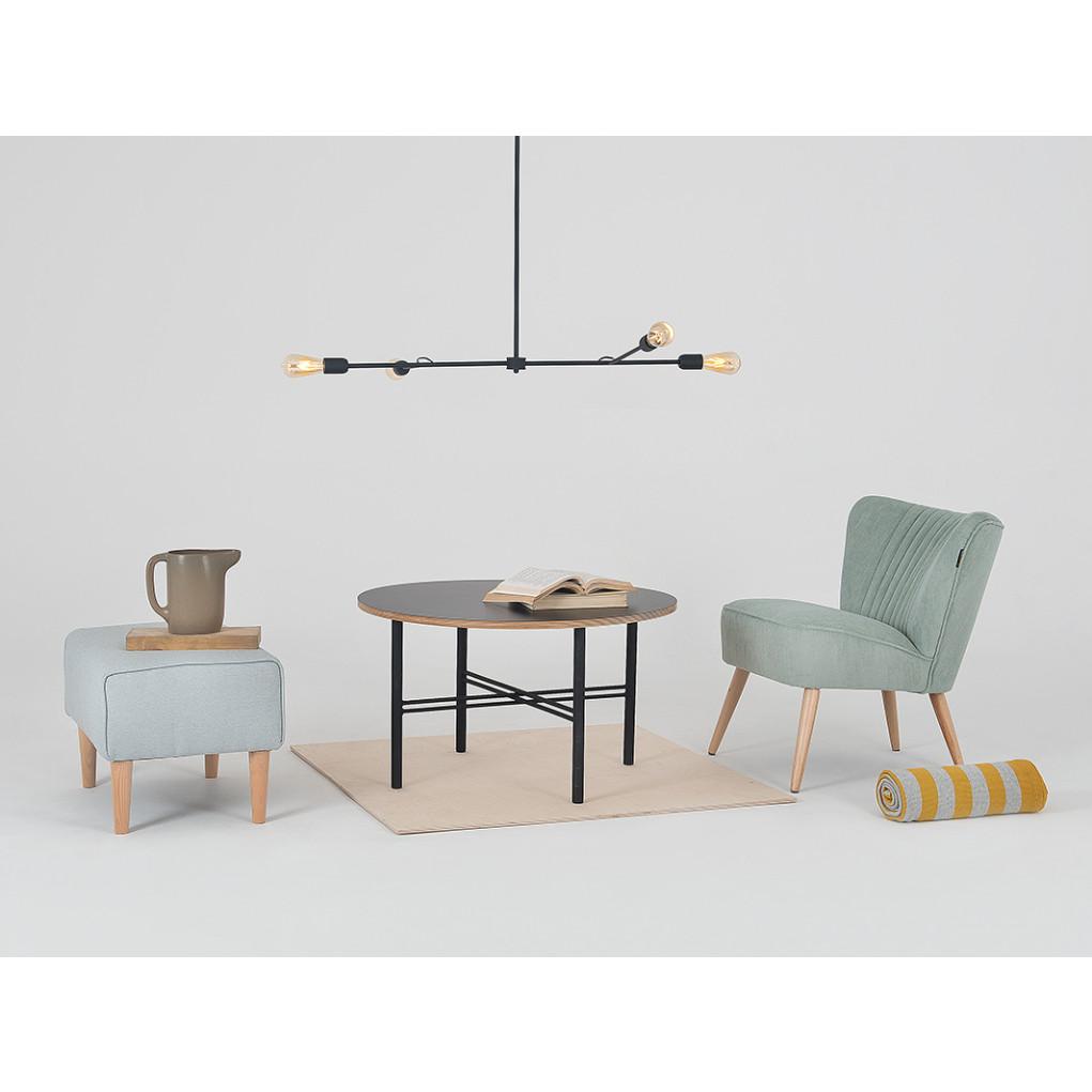 Coffee Table Pento 80 x 80 x H 45 cm | Black