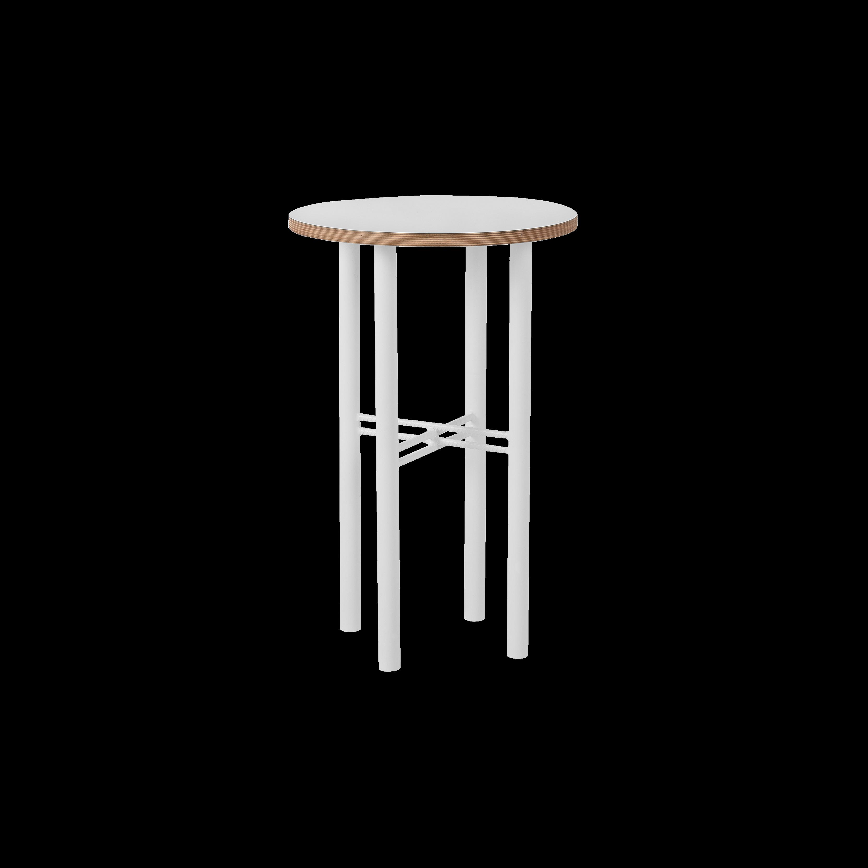 Coffee Table Pento 40 x 40 x H 60 cm | White