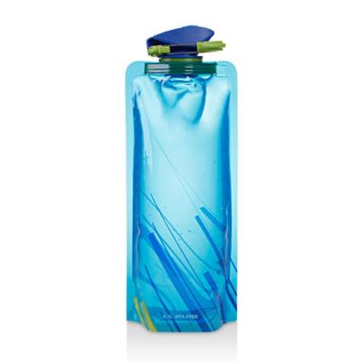 Wiederverwendbare, tragbare, zusammenklappbare Trinkwasser-Faltflasche | Blau