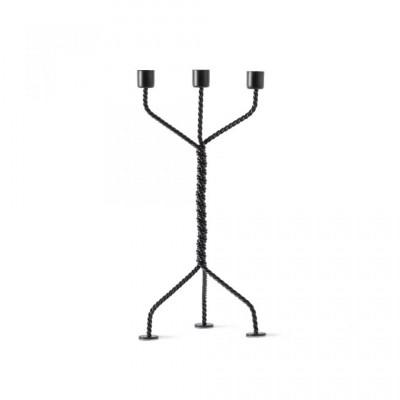 Kerzenhalter Twisted | Schwarz