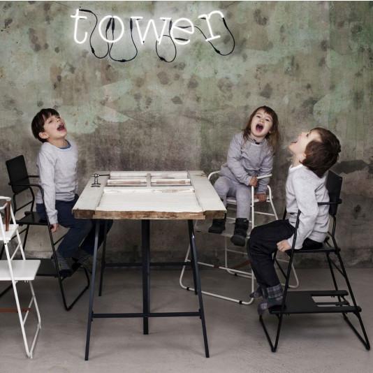 TOWERchair | Schwarz/Schwarz Leder