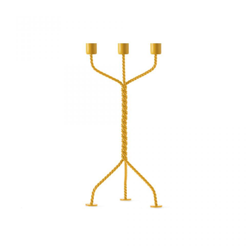 Kerzenhalter Twisted | Gelb