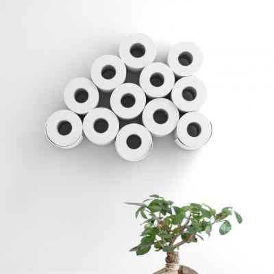 Toilettenpapieraufbewahrung | 3 Ablagen | Weißer Stahl