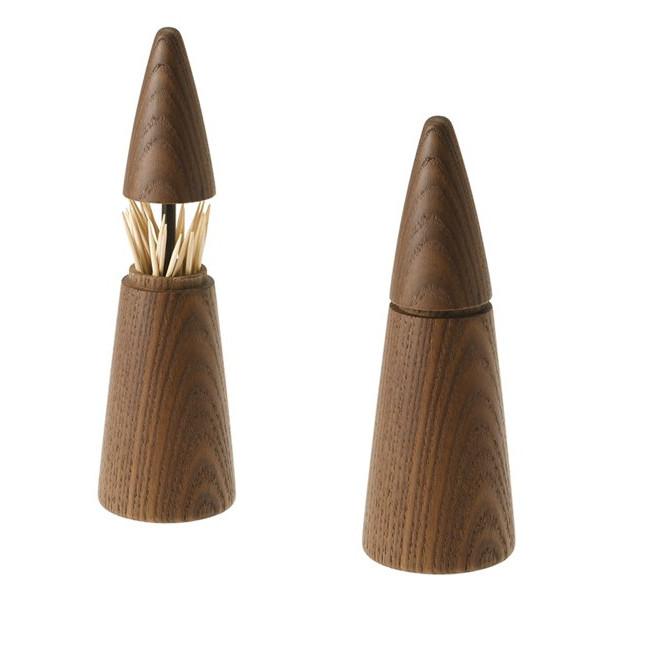 Zahnstocher-Spender Scalpium   Dunkles Holz