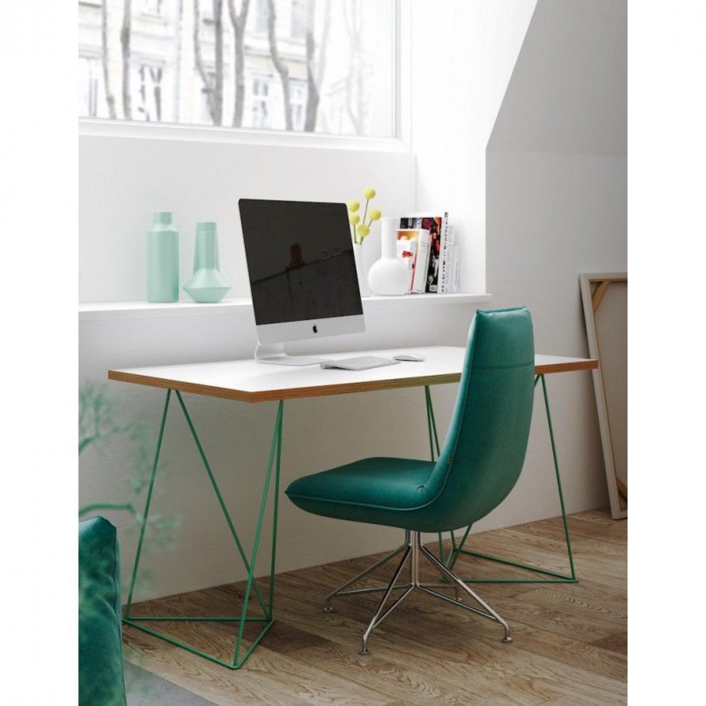Schreibtisch Flow | Wilde Eiche & Grün