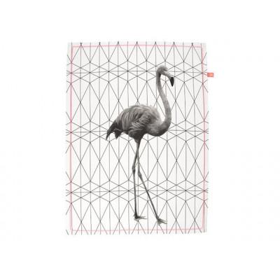 Geschirrtuch | Flamingo gestrecktes Sechseck