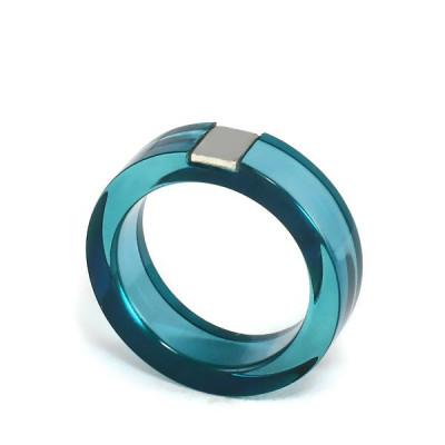 Acryl-Ring - Petrol