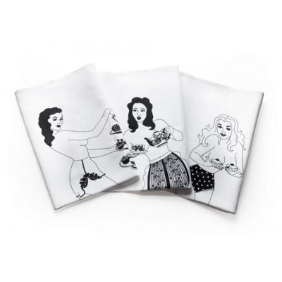 Set of 3 Time for Tea Towels