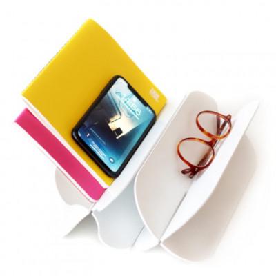 Schreibtisch-Organizer / Tablett   Weiß