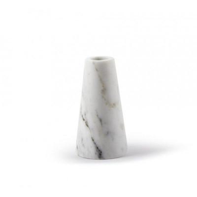 Tellus Marmor-Kerzenhalter Weiß | Medium