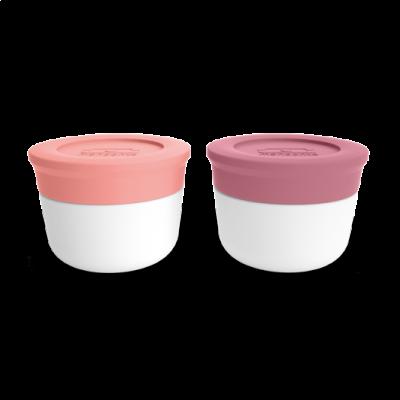 Das Saucedöschen Small 2er-Set | Blush & Rosa