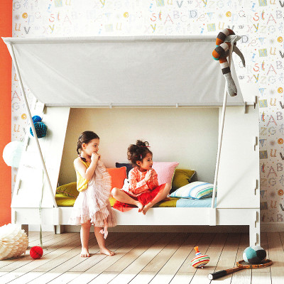 Tent Bed without Storage | For mattress 90 x 200 cm