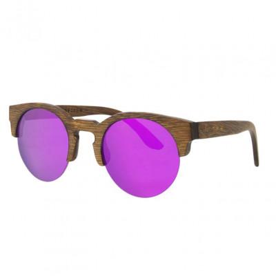 Wooden Frame Sunglasses Terra   Purple