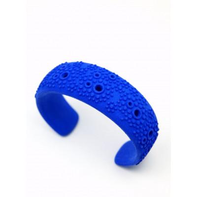 Strukturierte Manschette - Blau