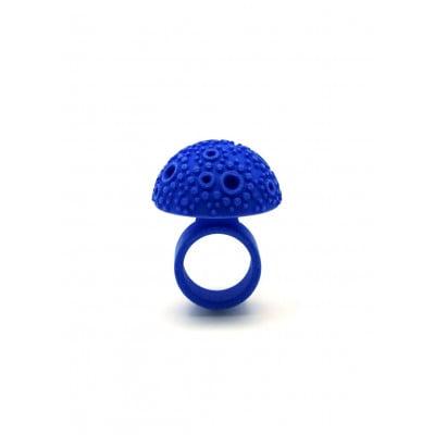 Strukturierter Kuppelring - Blau