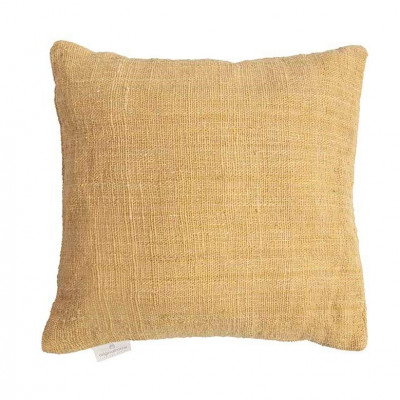Handgewebtes Kissen Jute 60 x 60 cm | Gelb