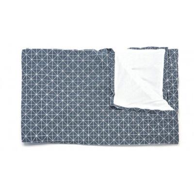 Geometrischer Origami-Wurf | Grau