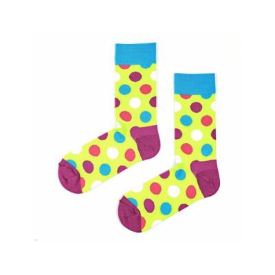 Unisex-Socken | Half Huge Dots Neon