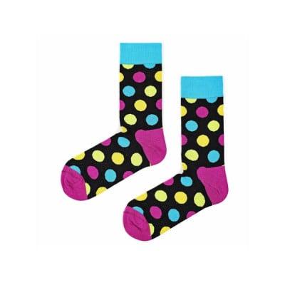 Unisex-Socken | Half Huge Dots Schwarz