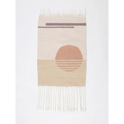 Sun no.12 Wall Hanger | White, Beige & Pink