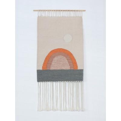Sun no.13 Wall Hanger | White, Green & Orange