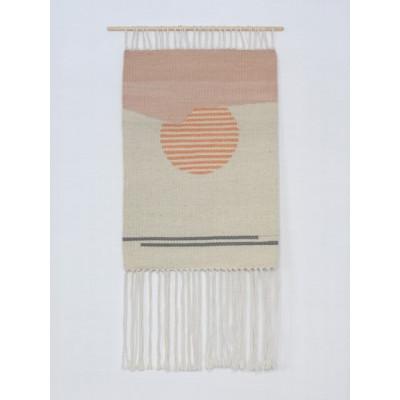 Sun no.14 Wall Hanger | White & Pink