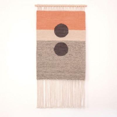 Sun no. 7 Wall Hanger | Grey & Pink