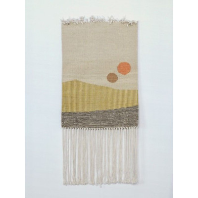 Sun no. 8 Wall Hanger | White, Green & Yellow