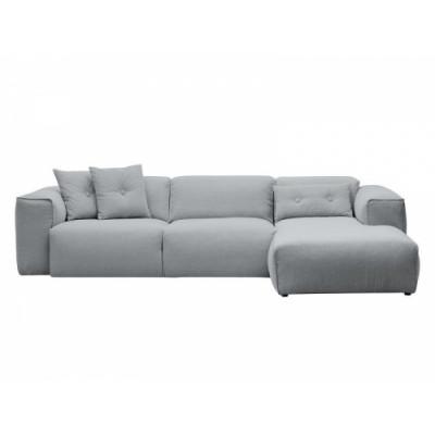2,5-Sitzer-Sofa mit Chaiselongue Fresno Milla 0110 | Soft Grau