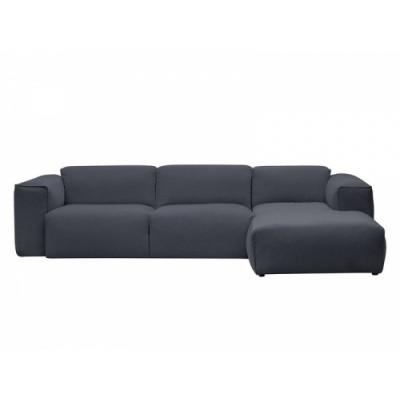 2,5-Sitzer-Sofa mit Chaiselongue Fresno Copparo Dervit 1465 | Grau