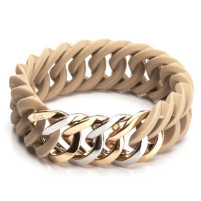 Circle Bracelet  25mm   Desert Sand & Metal Mix