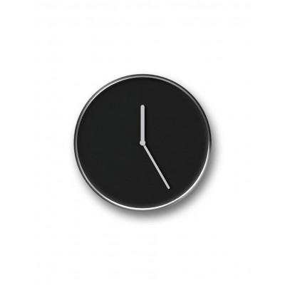 Thin Clock   Chrome & Black
