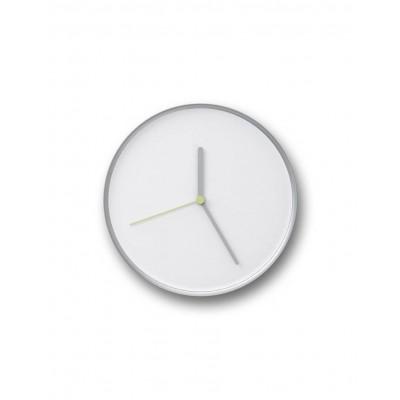 Thin Clock   Silver & White