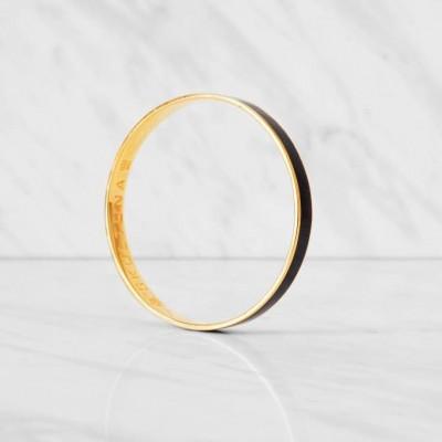 Thin Bangle Bracelet | Black