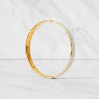 Thin Bangle Bracelet | White