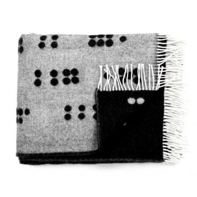 Wool Throw | Dot Black