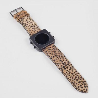 Circa Watch | Cheetah, Black, Brown